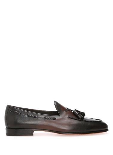 Santoni %100 Deri Loafer Ayakkabı Kahve